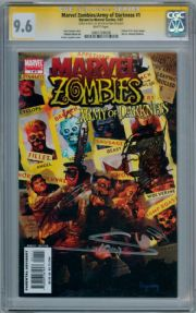 Marvel Zombies Vs Army Of Darkness #1 CGC 9.6 Signature Series Signed Arthur Suydam Wolverine sketch